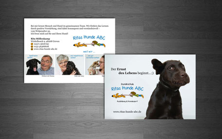 Katja Beter Grafikdesign Ritas Hundeschule Greven