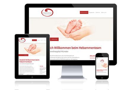 Hebammenteam am Clemenshospital Münster Grafikdesign Katja Beter Webdesign