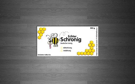 Katja Beter Grafikdesign Honigetiketten Schronig Deutscher Honig