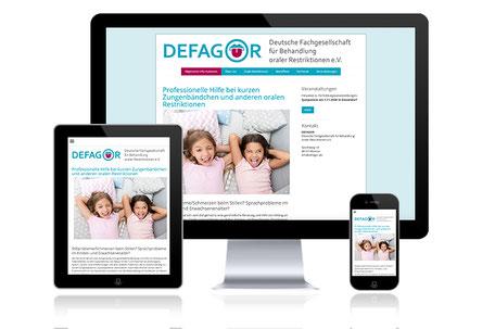 DEFAGOR verkürztes Zungenband Grafikdesign Katja Beter Webdesign