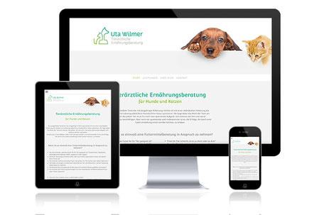 Uta Wilmer Ernährung Hund und Katze Webdesign Grafikdesign Katja Beter