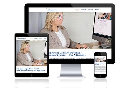 AZ-Praxismanagement zahnärztliche Abrechnung Webdesign Grafikdesign Katja Beter