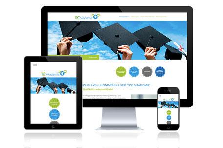 TPZ Akademie Ibbenbüren Grafikdesign Katja Beter Webdesign