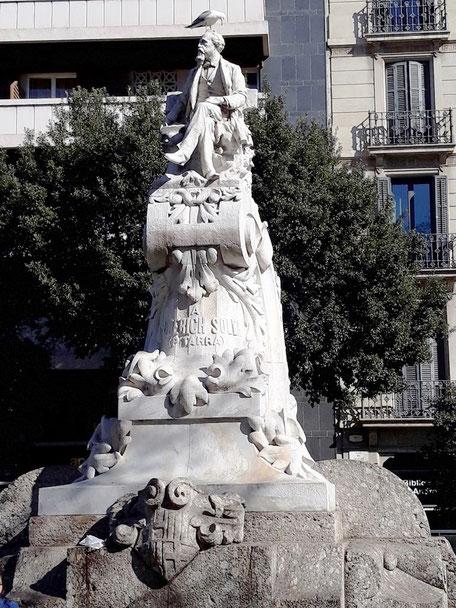 Уличное искусство Барселоны. Памятник Фредерику Солеру