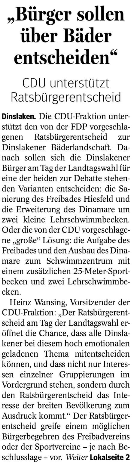 © NRZ Dinslaken vom 18.3.2017