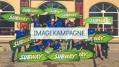 SignSpinner im Einsatz für die Bewerbung einer Imagekampagne.