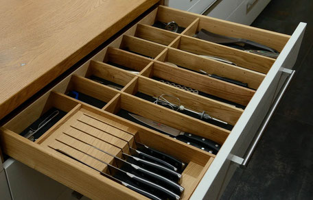 Besteckkasten aus Holz