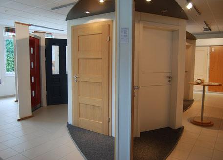 Türenstudio und Türenausstellung der Schreinerei Wiedmann bei Dittenheim