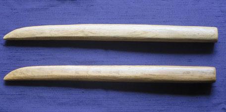 相伝家十二代目自作の小具足・小木刀。全国大会等で時々使用。