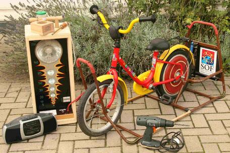 Energie-Erlebnis-Fahrrad, Strom erzeugen mit dem Fahrrad
