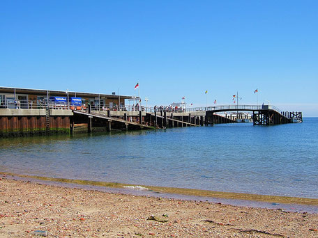 Die Landungsbrücken von Helgoland