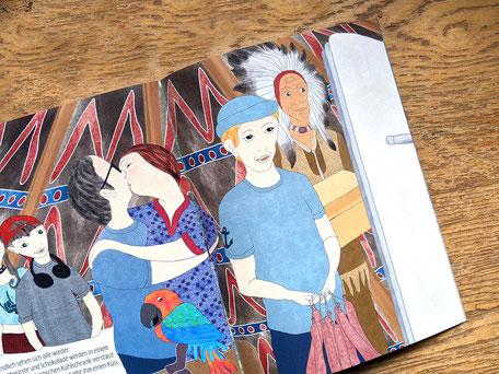 Ulrike Spang Illustration Wie Papa das Riesenfaultier fand