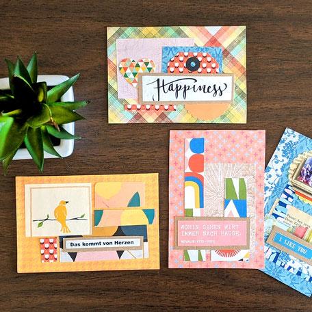 Postkarte Scrapbook bunt kaufen