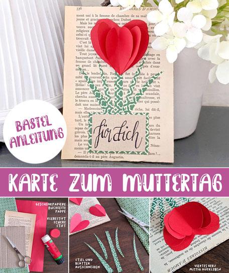 Basteln Karte Muttertag Anleitung