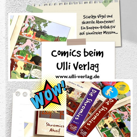 """""""Shromics Ahoi!"""" heißt der zweite Band von Herbert Klockes Kult-Comic-Reihe """"Die Shromics"""", erschienen im Oktober 2020 beim Ulli Verlag."""
