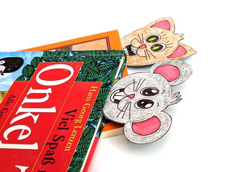 Lesezeichen für Kinder basteln