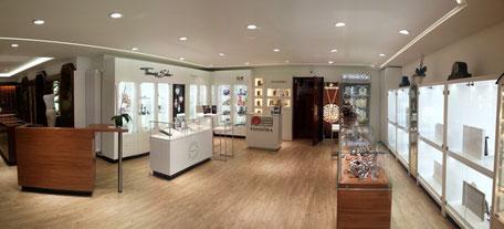 Die Geschäftsräume von Juwelier Max Schreiner nach der Modernisierung im Jahr 2012