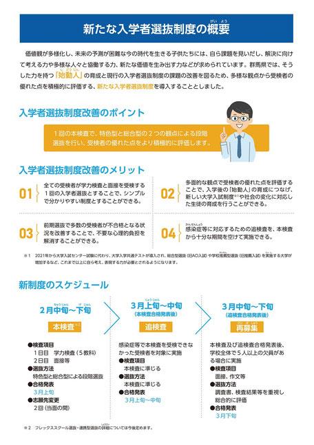 群馬県立高校入試制度,特色型,総合型