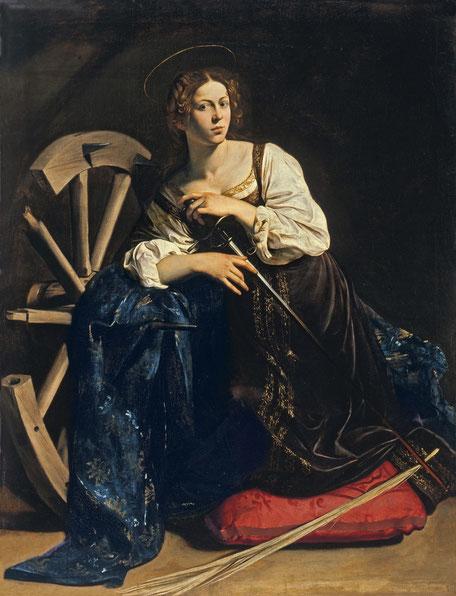 Caravaggio: Heilige Katharina von Alexandrien (1595–1596)