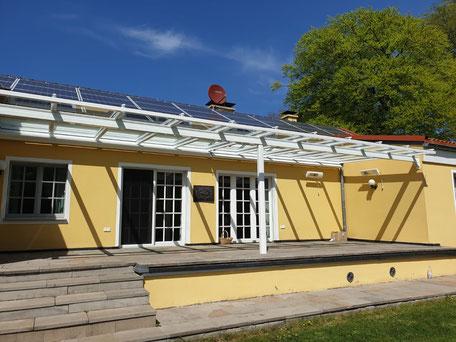 Klaiber Terrassendach mit Dachüberstand
