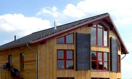 Röhrenkollektoren von Solar hoch 2 - auch im Winter hocheffizient.