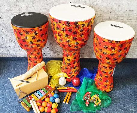 Musikalische Früherziehung - Percussions-Set