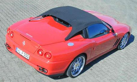 Ferrari 550 Barchetta with soft top