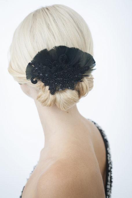Haarschmuck Fascinator Bohemian-Boho-Vintage oder 20er Jahre Gatsby Look.  Kopfschmuck für edle Looks für Gala Abende, Oper Besuche, Fasching oder Silvester. Weihnachtsgeschenk!