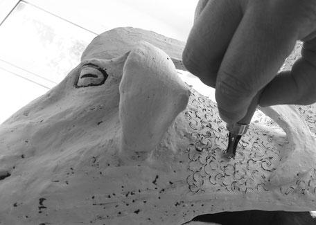 martine royer atelier sculpture mouton