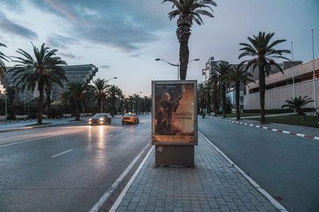 Terminator Werbung in Tunis