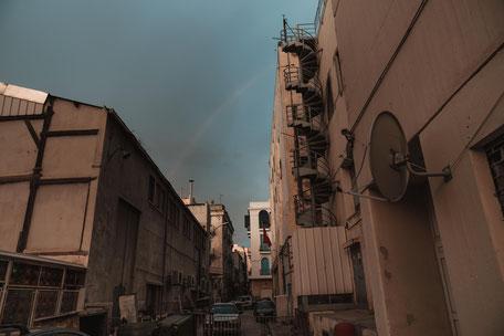 Regenbogen am Morgen