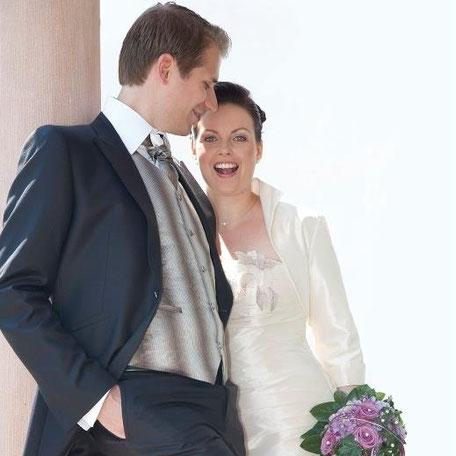 Freie Traurednerin Katrin Bausewein bei ihrer eigenen Hochzeit