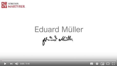 Aktuell im Internet: ein wunderbarer Film (ca. 10 Minuten) über das Leben und Sterben Eduard Müllers. Besonders berührend ist, dass es Schülerinnen und Schüler sind, die Zitate aus seinen Briefen vorlesen.