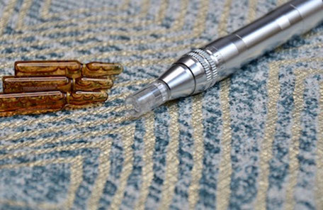 Microneedling mit Ampullen