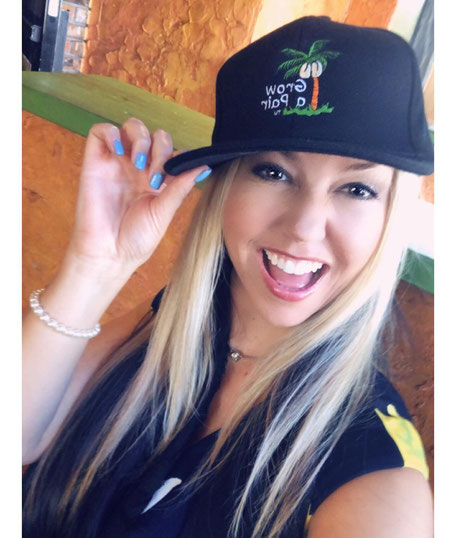 sexy blonde flat bill snap back cap hat