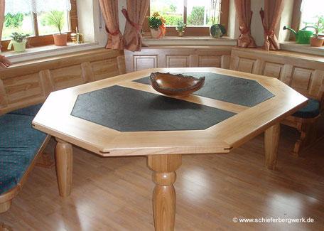 Einlegeplatten aus-Schiefer für Tische