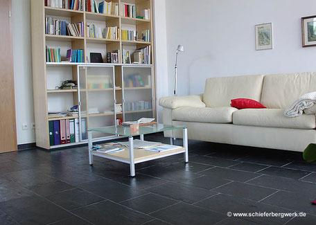 Schieferboden im Wohnzimmer
