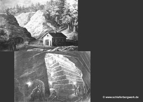 Zeichnungen Schieferbergbau