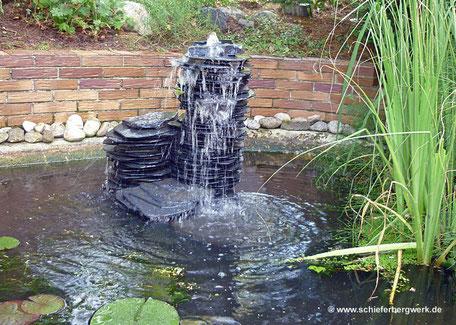Brunnen aus Schiefer