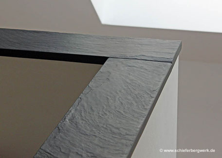 Deckplatte für Geländer bzw. Mauer aus Schiefer
