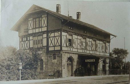 Hotel / Bahnhof Scheer 1945