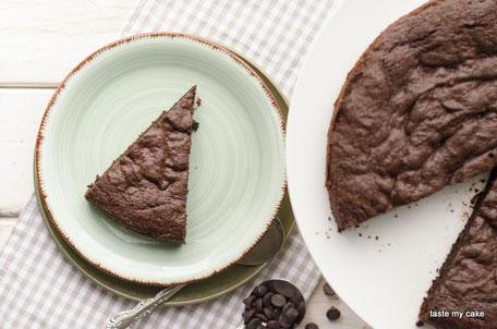 glutenfreie und vegane Backmischung für einen Himbeer Schokoladenkuchen