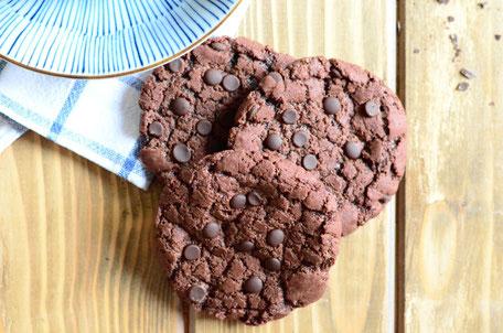 glutenfreie und vegane Backmischung für einen Choco Chip Cookies