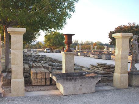 Handgefertigten Toranlagen Torpfosten aus Französischen Naturstein
