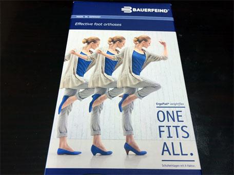 パッケージのようにヒールの高さが違う靴にもそれぞれ入れることができます
