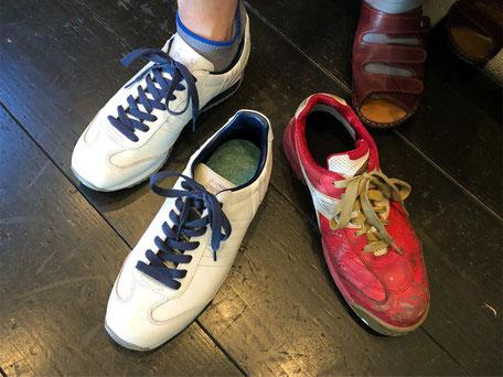左:普段履き用の靴  右:お仕事用の靴  写真撮影ありがとうございました!