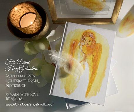 AGNYA HEALING ART exklusives Engel-Buch für Inspirationen und Herz-Gedanken