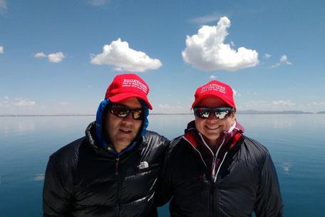 Hannes & Anja on Lake Titicaca