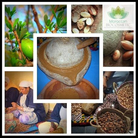 Extracción artesanal del aceite de argán
