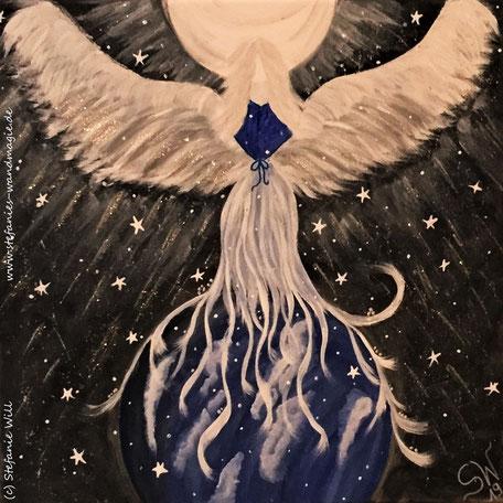 Engel selbstgemalt Engelbild Stefanie Will Kunst Künstlerin Ammersee Herzensengel Acrylbild Energiebild Spiritualität Bewusstsein Liebe